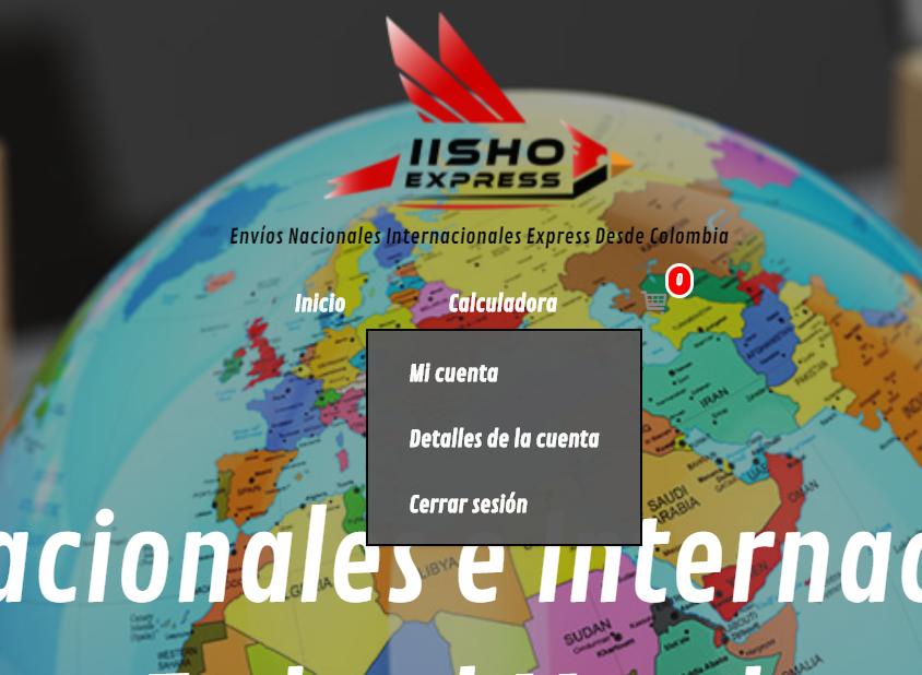 paso a paso calculadora de envios de IISHO